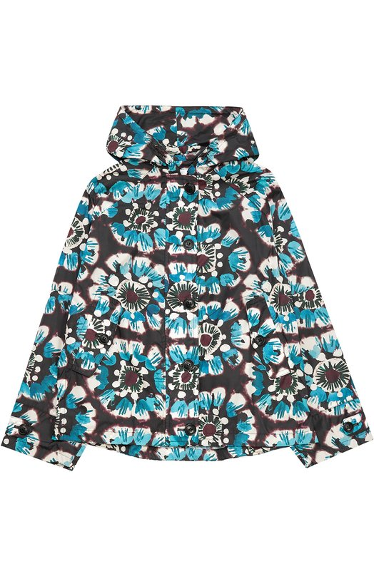 Ветровка с капюшоном и цветочным принтом BurberryВерхняя одежда<br><br><br>Размер Years: 8<br>Пол: Женский<br>Возраст: Детский<br>Размер производителя vendor: 128-134cm<br>Материал: Полиамид: 100%; Подкладка-купра: 100%;<br>Цвет: Разноцветный
