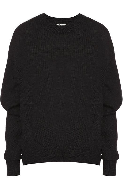 Шерстяной пуловер свободного кроя со спущенным рукавом Acne Studios 19H164