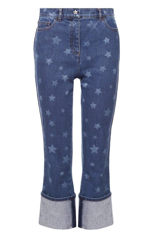 Укороченные джинсы с принтом в виде звезд и отворотами Valentino