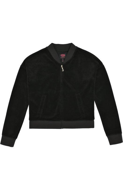 Велюровый спортивный кардиган Juicy Couture GTKJ56856