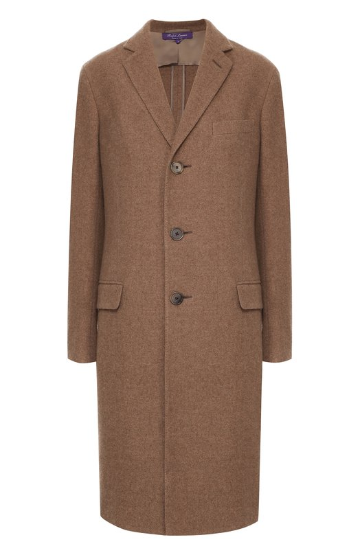 Кашемировое пальто прямого кроя Ralph LaurenПальто и плащи<br>Ральф Лорен включил однобортное пальто в осенне-зимнюю коллекцию 2016 года. Для создания модели прямого кроя, с тремя карманами использован мягкий кашемир бежевого цвета. Изделие застегивается на темные пуговицы. Высокая шлица не сковывает движений.<br><br>Российский размер RU: 38<br>Пол: Женский<br>Возраст: Взрослый<br>Размер производителя vendor: 0<br>Материал: Кашемир: 100%;<br>Цвет: Бежевый