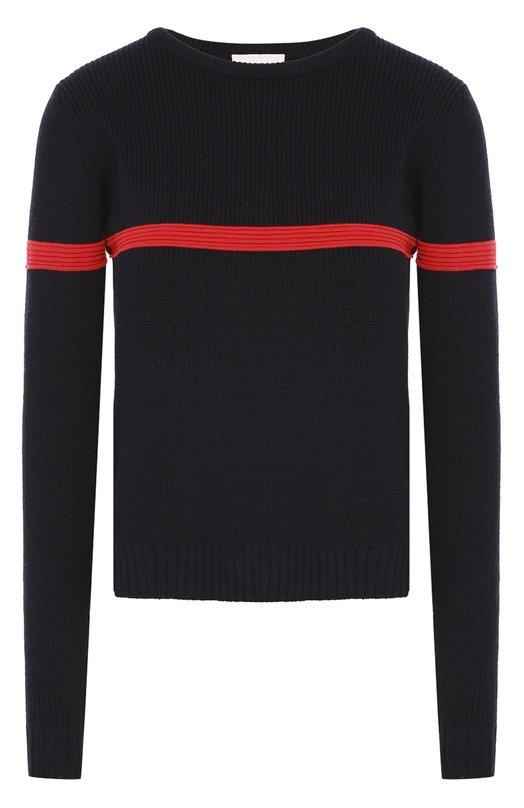 Пуловер фактурной вязки с контрастной отделкой Moncler B2-093-90642-00-99679