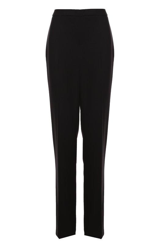 Шерстяные брюки прямого кроя со стрелками EscadaБрюки<br><br><br>Российский размер RU: 48<br>Пол: Женский<br>Возраст: Взрослый<br>Размер производителя vendor: 40<br>Материал: Шерсть: 100%;<br>Цвет: Черный