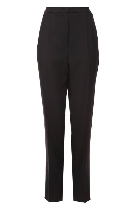Шерстяные брюки прямого кроя со стрелками EscadaБрюки<br><br><br>Российский размер RU: 52<br>Пол: Женский<br>Возраст: Взрослый<br>Размер производителя vendor: 46<br>Материал: Шерсть: 100%;<br>Цвет: Черный