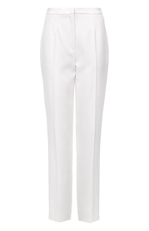 Шерстяные брюки прямого кроя со стрелками EscadaБрюки<br><br><br>Российский размер RU: 50<br>Пол: Женский<br>Возраст: Взрослый<br>Размер производителя vendor: 44<br>Материал: Шерсть: 100%;<br>Цвет: Белый