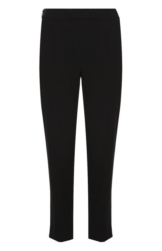 Укороченные брюки прямого кроя с карманами EscadaБрюки<br><br><br>Российский размер RU: 44<br>Пол: Женский<br>Возраст: Взрослый<br>Размер производителя vendor: 38<br>Материал: Триацетат: 83%; Полиэстер: 17%;<br>Цвет: Черный