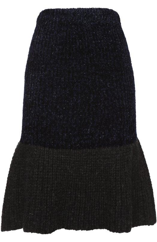 Вязаная юбка с оборкой и металлизированной отделкой 3.1 Phillip Lim H161-7759ILF