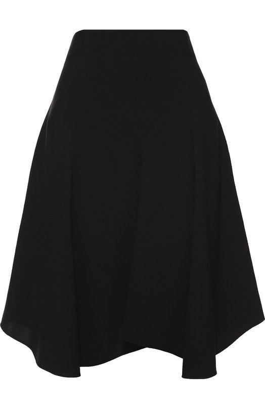 Мини-юбка ассиметричного кроя Chlo?Юбки<br>В осенне-зимнюю коллекцию 2016 года вошла короткая черная юбка с классической посадкой на талии. Создавая эту модель, Клэр Уэйт Келлер вдохновлялась одеждой танцоров. Поэтому расклешенное изделие, не сковывающее движений, сшито из струящегося плотного крепа.<br><br>Российский размер RU: 44<br>Пол: Женский<br>Возраст: Взрослый<br>Размер производителя vendor: 38<br>Материал: Подкладка-ацетат: 70%; Ацетат: 53%; Вискоза: 47%; Подкладка-шелк: 30%;<br>Цвет: Черный