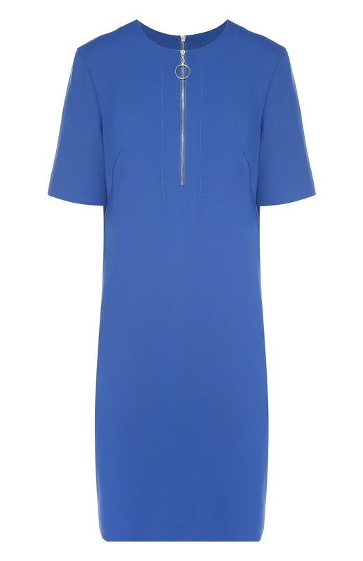 Платье прямого кроя с укороченным рукавом и вырезом на молнии Escada SportПлатья<br><br><br>Российский размер RU: 50<br>Пол: Женский<br>Возраст: Взрослый<br>Размер производителя vendor: 42<br>Материал: Полиамид: 85%; Эластан: 15%;<br>Цвет: Синий