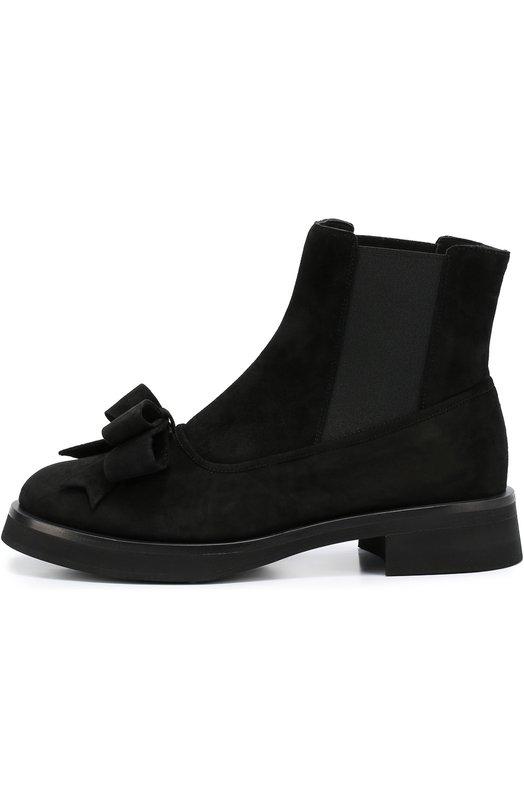Замшевые ботинки Aleksander с бантом Aleksandersiradekian ALEKSANDER B00TS/SUEDE