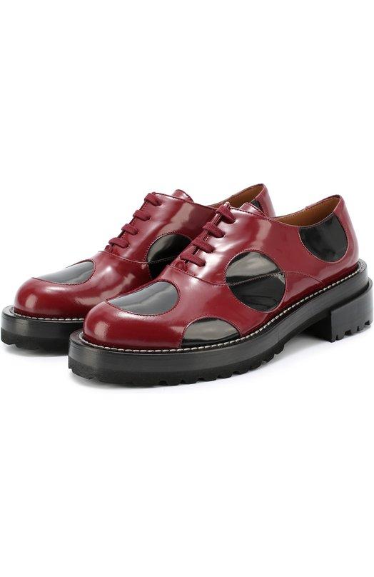 Кожаные ботинки с цветными вставками MarniБотинки<br><br><br>Российский размер RU: 38<br>Пол: Женский<br>Возраст: Взрослый<br>Размер производителя vendor: 38<br>Материал: Кожа натуральная: 100%; Стелька-кожа: 100%; Подошва-резина: 100%;<br>Цвет: Бордовый