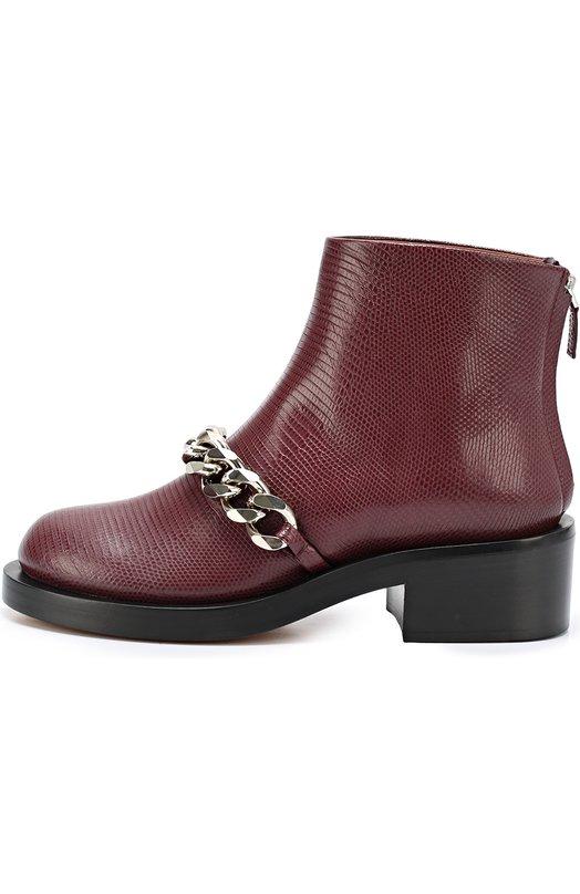 Кожаные ботинки с металлической цепью Givenchy BE0/8198/833