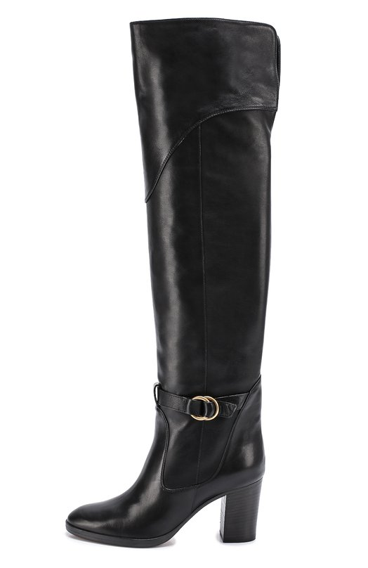 Кожаные ботфорты Kole на устойчивом каблуке Chloe CH27655/E82