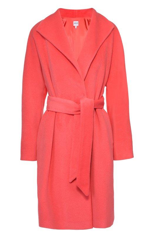 Пальто прямого кроя с широкими лацканами и поясом Armani Collezioni UML26T/UM620