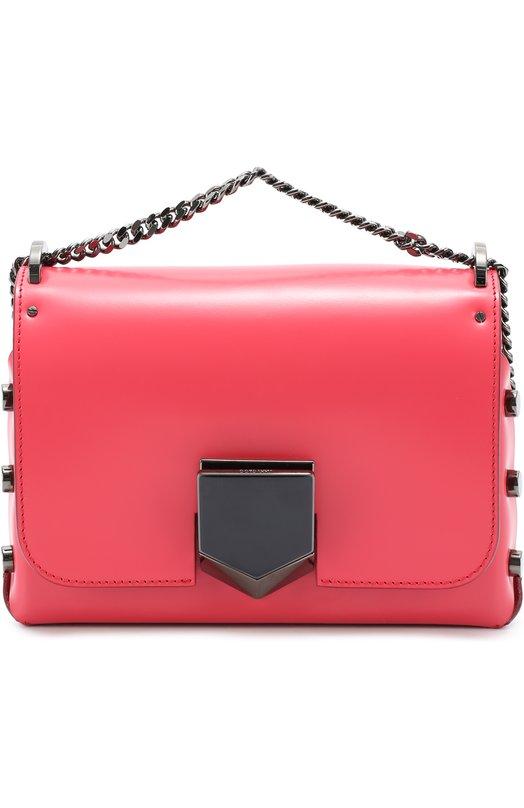 Сумка Lockett Petite на цепочке Jimmy ChooЖенские сумки<br><br><br>Пол: Женский<br>Возраст: Взрослый<br>Размер производителя vendor: NS<br>Материал: Кожа натуральная: 100%;<br>Цвет: Розовый