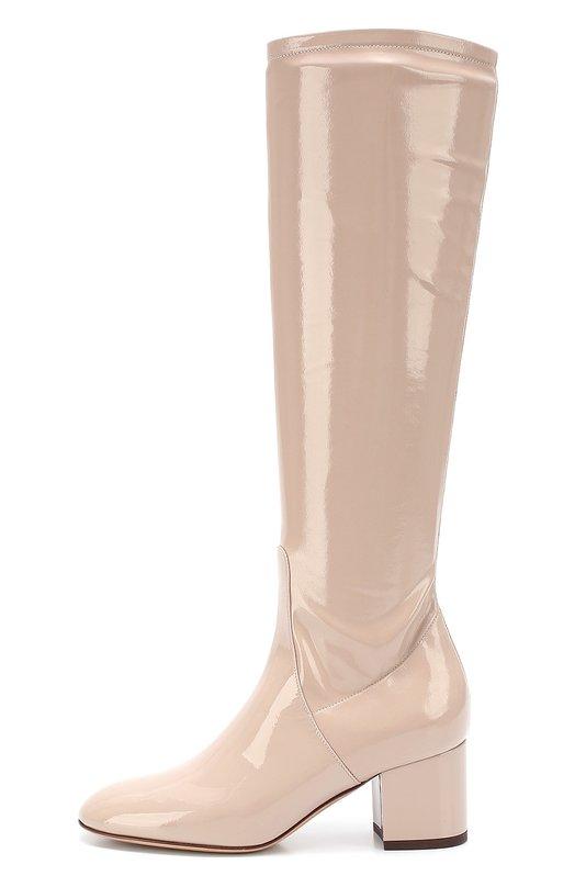 Лаковые сапоги Stretch на устойчивом каблуке Valentino LW2S0A58/TLC