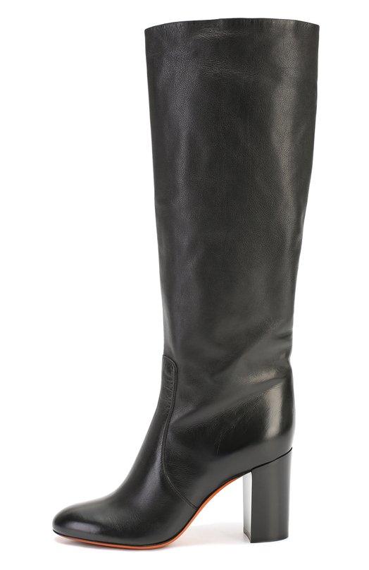 Кожаные сапоги на устойчивом каблуке Santoni WSVU54941HI3CPLC
