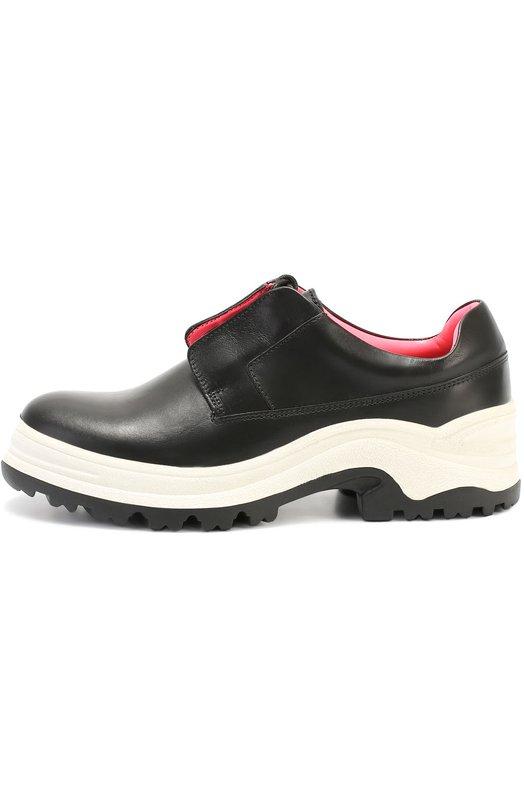 Кожаные ботинки на шнуровке Kenzo F661L0205L84
