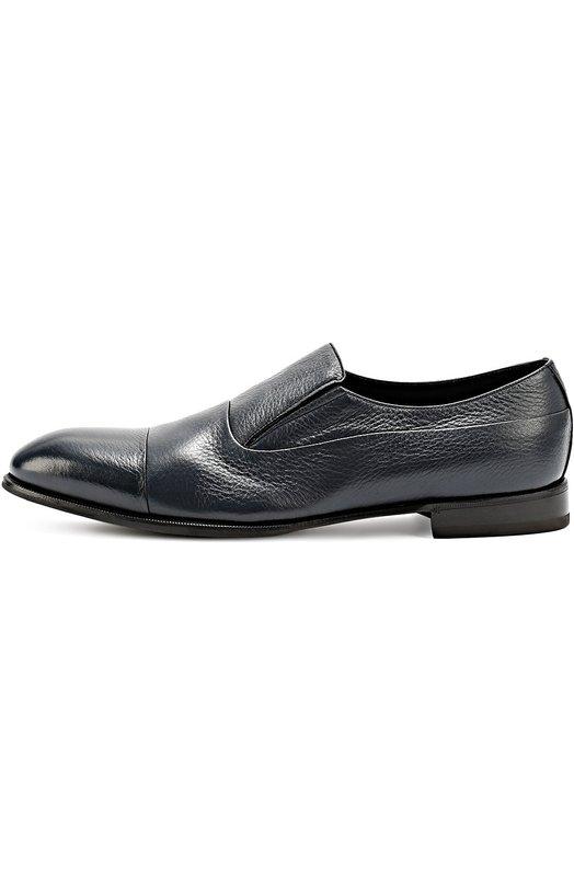 Классические лоферы из фактурной кожи BarrettЛоферы<br>Для производства темно-синих туфель мастера бренда использовали мягкую зерненую кожу с матовым блеском. Модель на невысоком устойчивом каблуке вошла в коллекцию сезона осень-зима 2016 года. Обувь без шнуровки дополнена скрытыми эластичными вставками по бокам.<br><br>Российский размер RU: 44<br>Пол: Мужской<br>Возраст: Взрослый<br>Размер производителя vendor: 10<br>Материал: Кожа натуральная: 100%; Стелька-кожа: 100%; Подошва-кожа: 100%; Подошва-резина: 100%; Стелька-овчина: 100%;<br>Цвет: Темно-синий