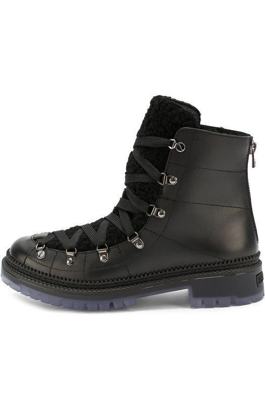 Кожаные ботинки Dimitri с внутренней меховой отделкой Jimmy Choo DMITRI/LNG