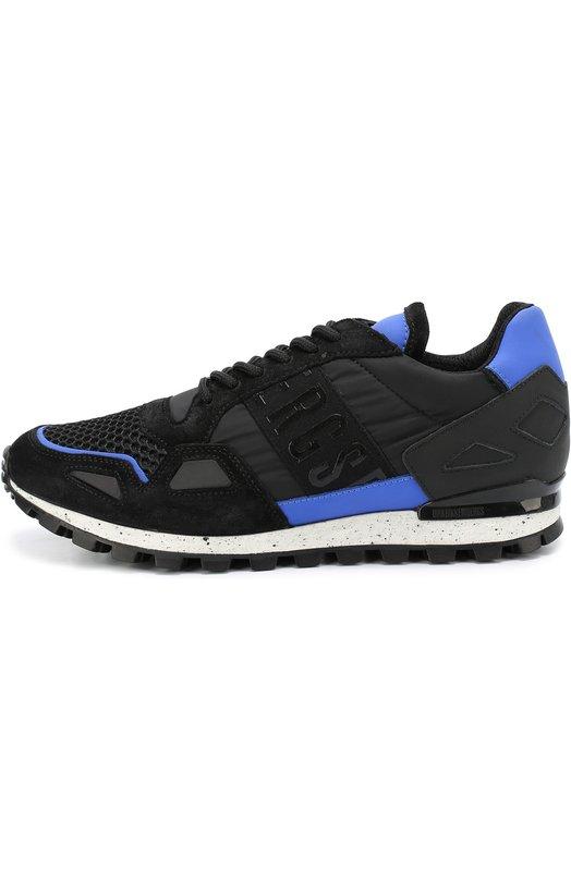 Комбинированные кроссовки на шнуровке Dirk Bikkembergs BKE108530