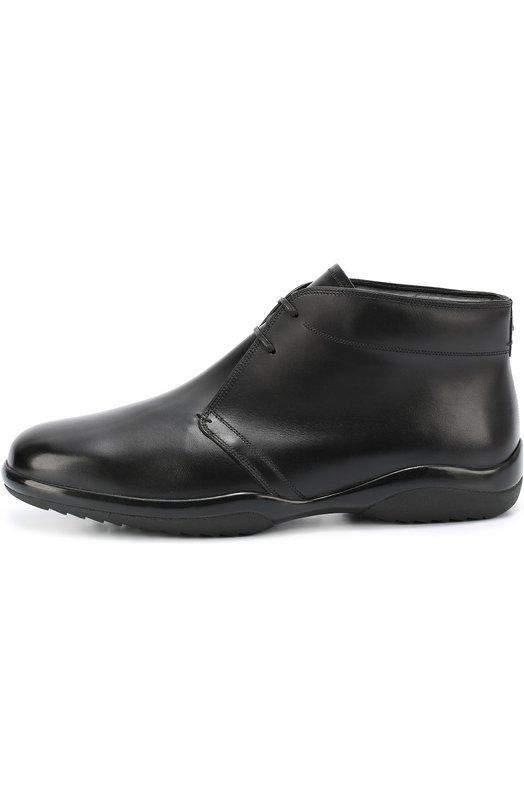 Кожаные ботинки с внутренней отделкой из овчины Bally MILK0M-FUR