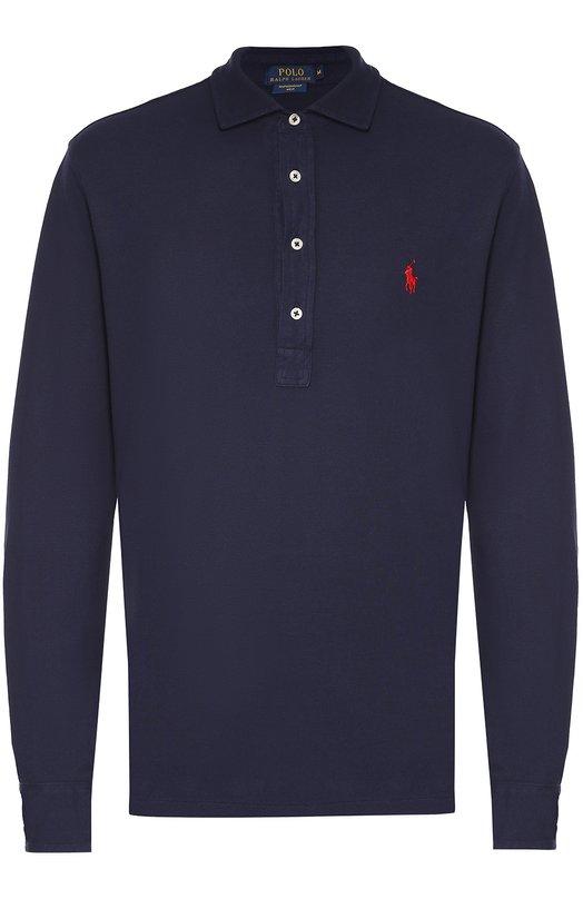 Хлопковое поло с длинными рукавами Polo Ralph Lauren A12/XZ16N/XY16N