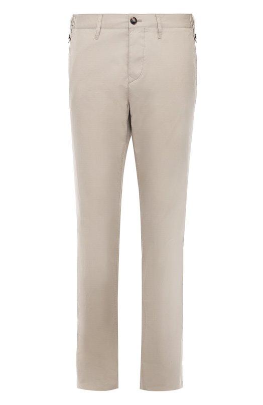 Купить Хлопковые брюки чинос Burberry, 3984366, Таиланд, Светло-серый, Хлопок: 100%;