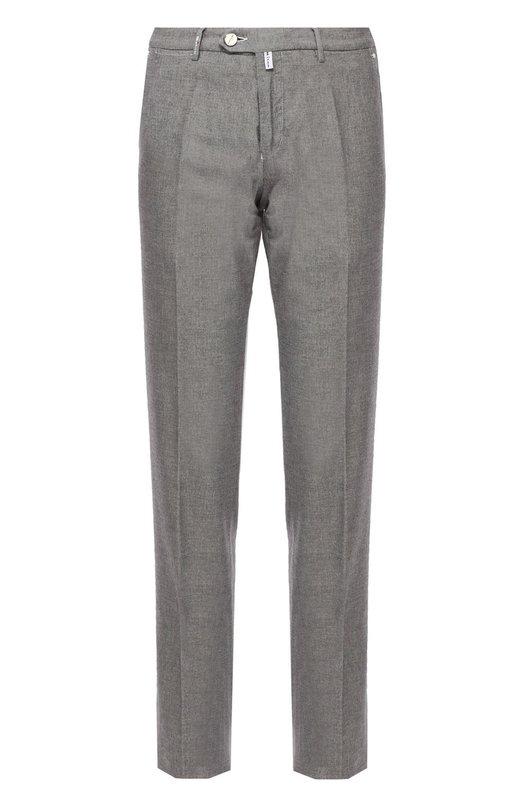 Хлопковые брюки прямого кроя Kiton UFPP79/N81