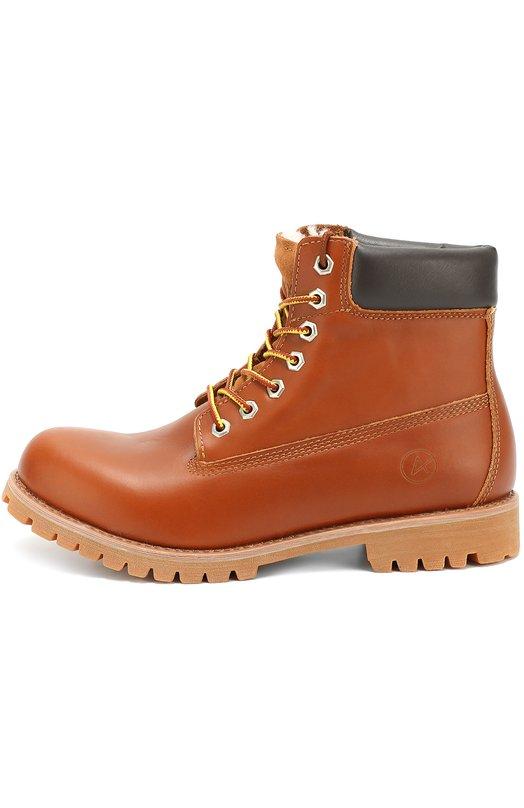 Кожаные ботинки New York на шнуровке Affex 16-NYK-CGN-M