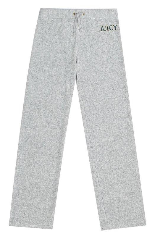 Спортивные брюки с эластичным поясом Juicy CoutureСпорт<br><br><br>Размер Years: 10<br>Пол: Женский<br>Возраст: Детский<br>Размер производителя vendor: 140-146cm<br>Материал: Хлопок: 78%; Полиэстер: 22%;<br>Цвет: Серый