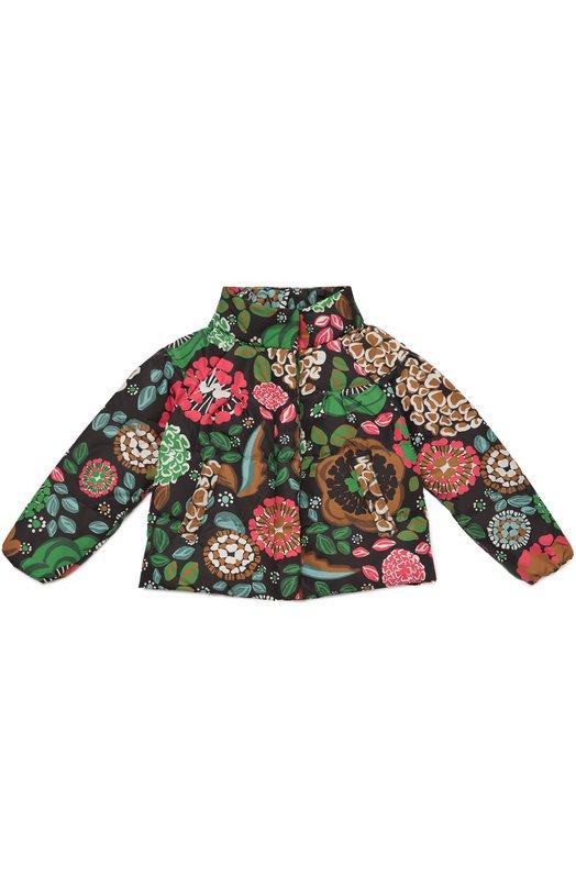 Стеганая куртка с ярким принтом BurberryВерхняя одежда<br><br><br>Размер Years: 8<br>Пол: Женский<br>Возраст: Детский<br>Размер производителя vendor: 128-134cm<br>Материал: Пух: 80%; Перо: 20%; Полиэстер: 100%; Подкладка-полиэстер: 100%;<br>Цвет: Разноцветный