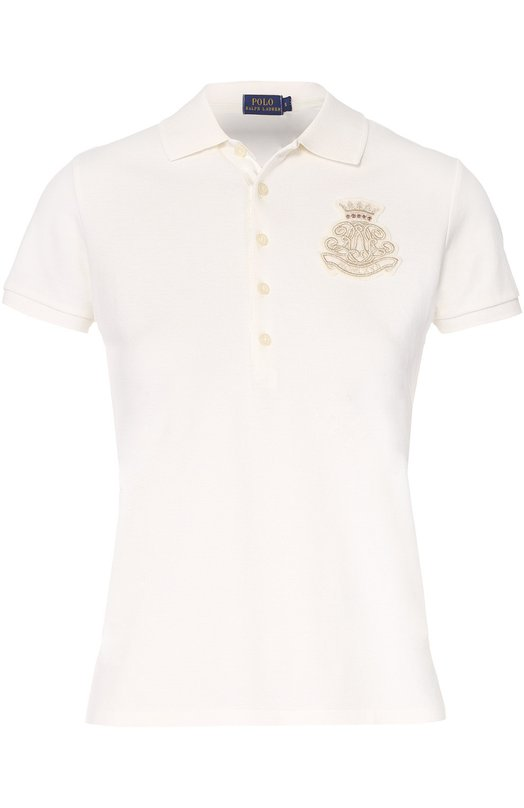 Хлопковое поло с вышитым логотипом бренда Polo Ralph Lauren V38/XZ2JQ/XY2JQ