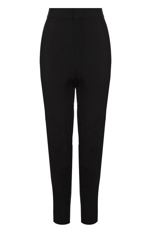 Купить Укороченные брюки прямого кроя с завышенной талией Chloé, 16HPA15/16H237, Словакия, Черный, Ацетат: 53%; Вискоза: 47%;