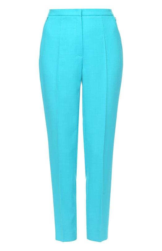 Шерстяные брюки прямого кроя со стрелками EscadaБрюки<br><br><br>Российский размер RU: 50<br>Пол: Женский<br>Возраст: Взрослый<br>Размер производителя vendor: 44<br>Материал: Шерсть: 100%;<br>Цвет: Бирюзовый