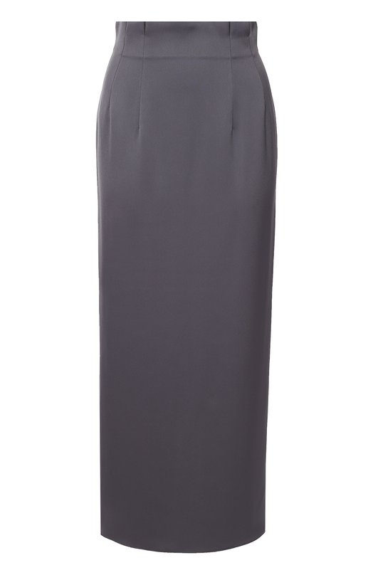 Юбка-карандаш с завышенной талией и высоким разрезом Armani CollezioniЮбки<br>Джорджио Армани включил длинную юбку-карандаш, застегивающуюся на потайную молнию сзади, в осенне-зимнюю коллекцию 2016 года. Модель с высоким разрезом вместо шлицы сшита из мягкого креп-сатина серого цвета. Широкий цельнокроеный пояс дополнен защипами. Советуем сочетать с черными рубашкой и туфлями.<br><br>Российский размер RU: 52<br>Пол: Женский<br>Возраст: Взрослый<br>Размер производителя vendor: 50<br>Материал: Полиэстер: 100%;<br>Цвет: Серый