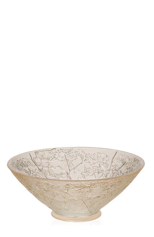 Ваза для фруктов Ombelles LaliqueСервировка<br><br><br>Пол: Женский<br>Возраст: Взрослый<br>Размер производителя vendor: NS<br>Материал: Хрусталь;<br>Цвет: Золотой