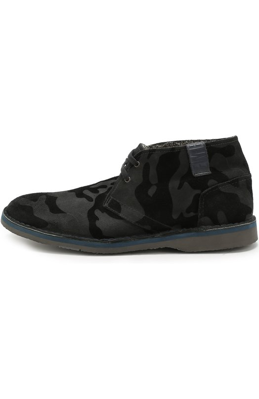 Утепленные кожаные ботинки с принтом Dirk Bikkembergs BKE108625