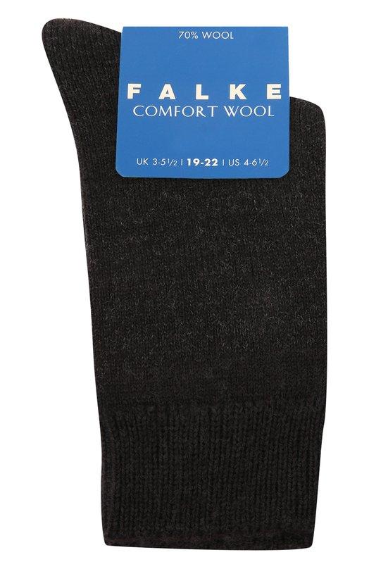 Утепленные носки Comfort Wool FalkeКолготки и носки<br><br><br>Российский размер RU: 23<br>Пол: Женский<br>Возраст: Детский<br>Размер производителя vendor: 23-26<br>Материал: Шерсть овечья: 70%; Эластан: 2%; Полиамид: 16%; Хлопок: 12%;<br>Цвет: Темно-серый