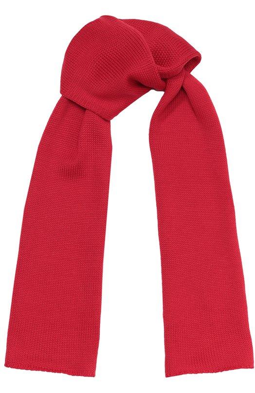 Вязаный шарф из шерсти Il TreninoШарфы<br><br><br>Пол: Женский<br>Возраст: Детский<br>Размер производителя vendor: NS<br>Материал: Шерсть: 100%;<br>Цвет: Красный