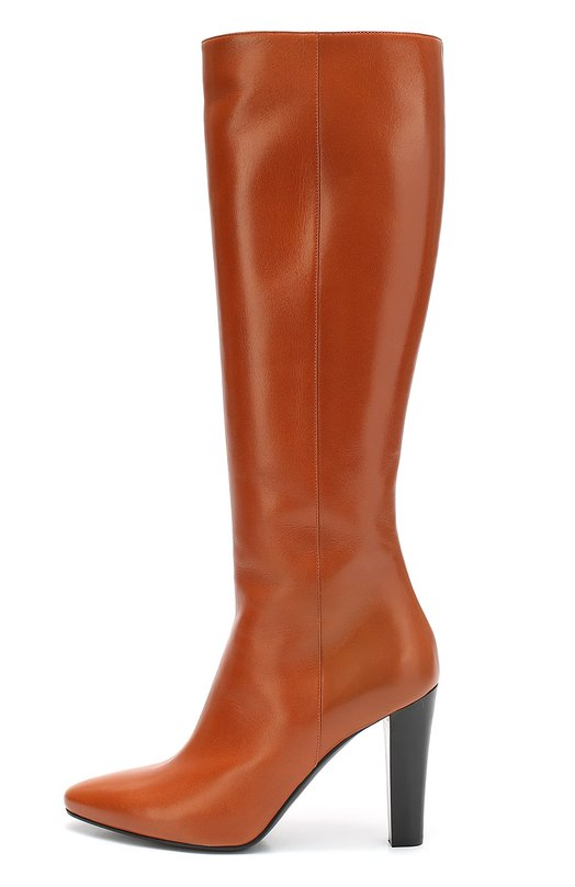 Кожаные сапоги Lily на высоком каблуке Saint LaurentСапоги<br><br><br>Российский размер RU: 36<br>Пол: Женский<br>Возраст: Взрослый<br>Размер производителя vendor: 36-5<br>Материал: Кожа натуральная: 100%; Стелька-кожа: 100%; Подошва-кожа: 100%;<br>Цвет: Оранжевый