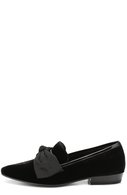 Текстильные лоферы Deven с бантом Saint Laurent черные | Фото №1