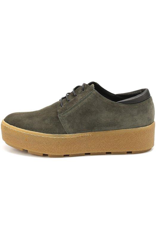 Замшевые ботинки на контрастной платформе Vic 1P7600D.P90CIEB