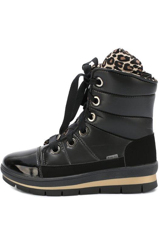 Текстильные ботинки на шнуровке Jog Dog 14011R-R/LE0