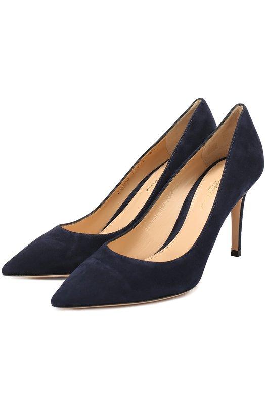 Купить Замшевые туфли Gianvito 85 Gianvito Rossi, G24580.85RIC.CAM, Италия, Синий, Стелька-кожа: 100%; Подошва-кожа: 100%; Замша натуральная: 100%; Подкладка-кожа: 100%; Кожа: 100%; Стелька-кожа: 100%;