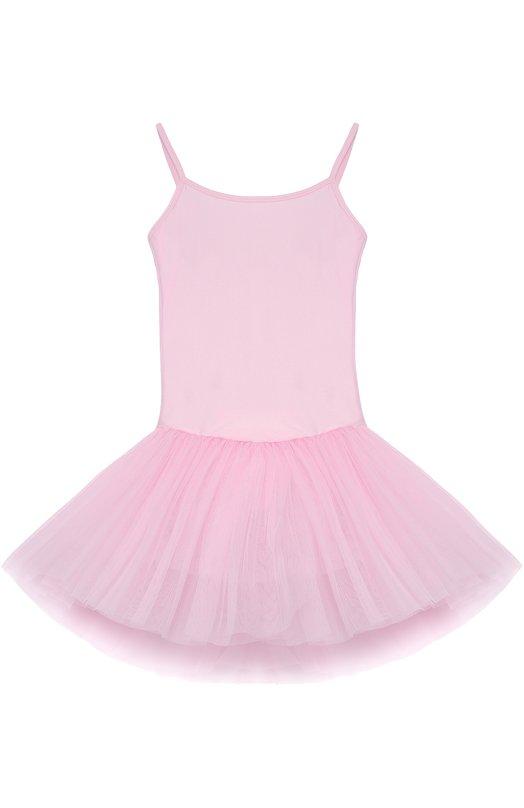 Приталенное платье с пышной многоярусное юбкой DehaПлатья<br><br><br>Размер Years: 12<br>Пол: Женский<br>Возраст: Детский<br>Размер производителя vendor: 146-152cm<br>Материал: Эластан: 20%; Полиамид: 100%;<br>Цвет: Розовый