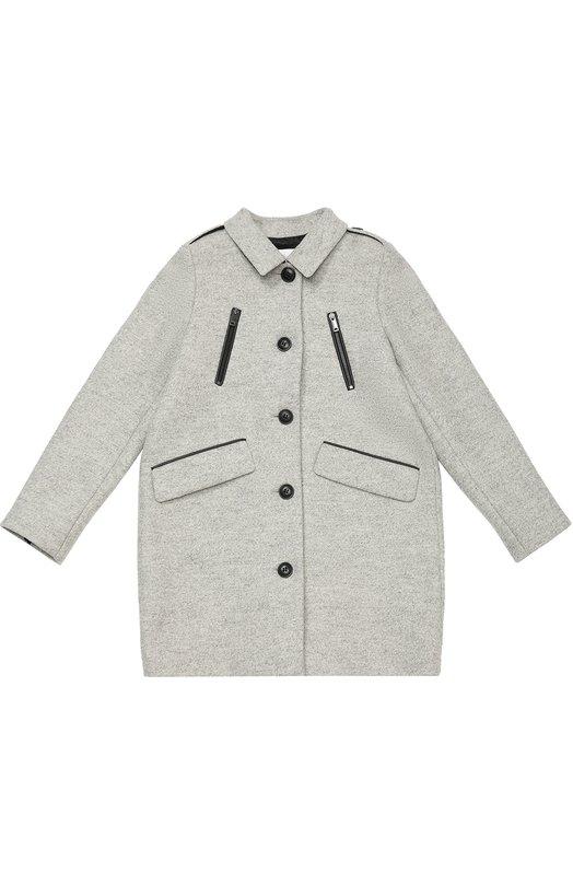 Пальто прямого кроя с контрастной отделкой Burberry 4027267
