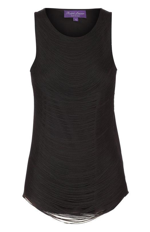 Купить Топ без рукавов с декоративной отделкой Ralph Lauren, 918/IHG59/FHG59, Италия, Черный, Вискоза: 82%; Шелк: 18%; Отделка-вискоза: 100%;