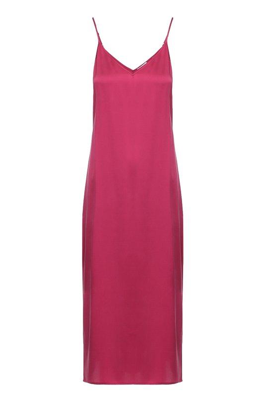 Шелковое платье-комбинация с разрезами EquipmentПлатья<br><br><br>Российский размер RU: 42<br>Пол: Женский<br>Возраст: Взрослый<br>Размер производителя vendor: S<br>Материал: Шелк: 100%;<br>Цвет: Бордовый