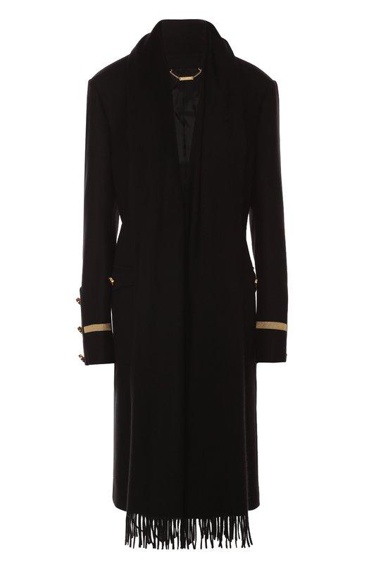 Пальто прямого кроя с контрастной отделкой и кашемировым шарфом Givenchy 16I/0013/049